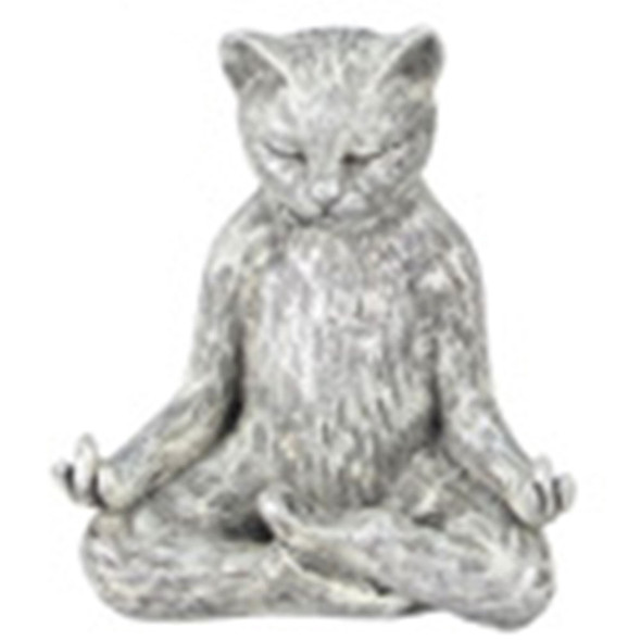 Yoga Cat Figurine - Lotus  Pose - 18732E