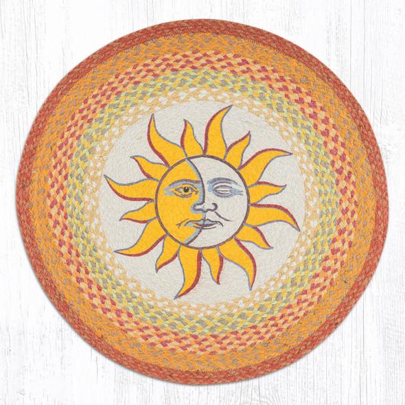 "Sun and Moon Jute Rug 27"" RP-579"