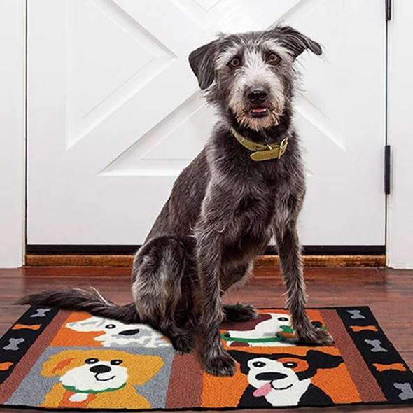 Four Friendly Pups - 21 x 33 - Washable Floor Rug JB-SFG001