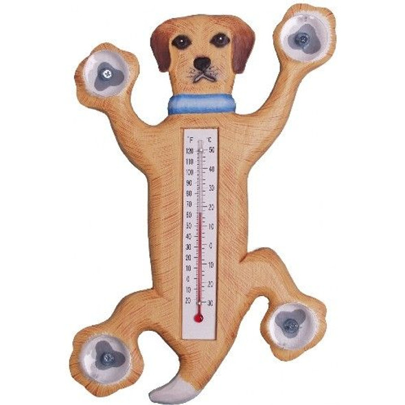 Dog Wood Window Thermometer - 21710-03