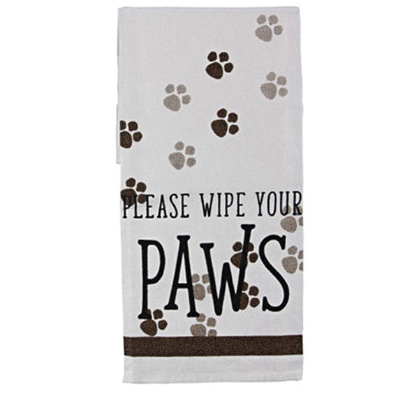 Please Wipe your Paws - Tea Towel