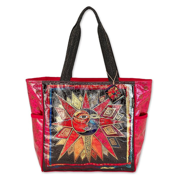 Laurel Burch Foil Sun Moon and Star Dance 20x14 Shoulder Tote – LB6670