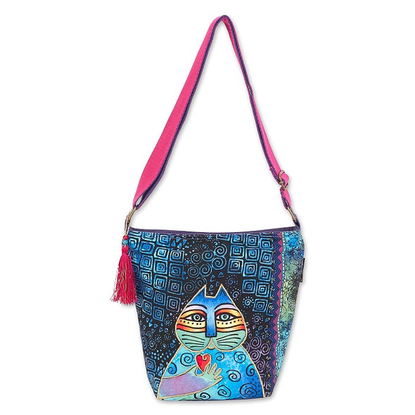 Laurel Burch Cat Wishing Love 12x11 N/S Crossbody Tote – LB6692