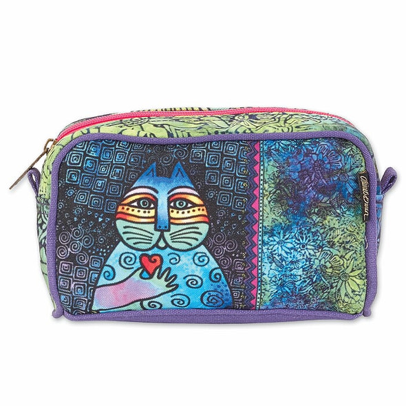 Laurel Burch Cat Wishing Love 7x4 Cosmetic Bag – LB6693