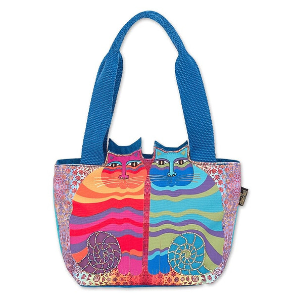Laurel Burch Rainbow Felines 12x8 Cutout Medium Tote – LB7002