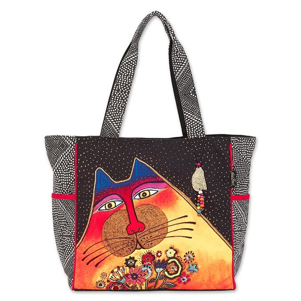 Laurel Burch A Bunch Of Love Cat 20x14 Shoulder Tote – LB7010
