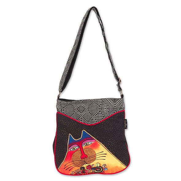 Laurel Burch A Bunch Of Love Cat 12x12 N/S Crossbody Tote – LB7011