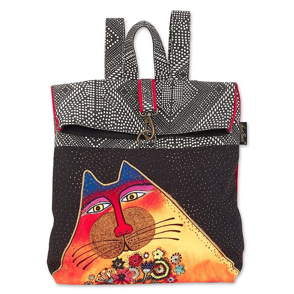 Laurel Burch A Bunch Of Love Cat 13x13 Backpack Tote – LB7012
