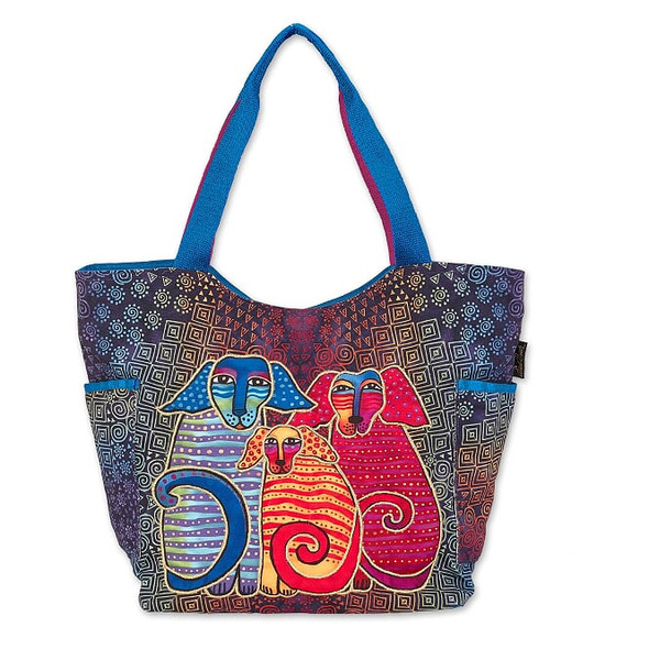 Laurel Burch Doggie Family 21x13 Scoop Tote – LB7020