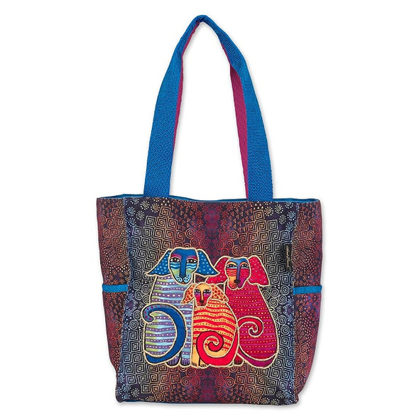 Laurel Burch Doggie Family 15x13 Medium Tote – LB7022