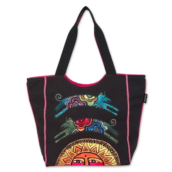 Laurel Burch Over the Sun Dogs 20x13 Scoop Tote – LB7030