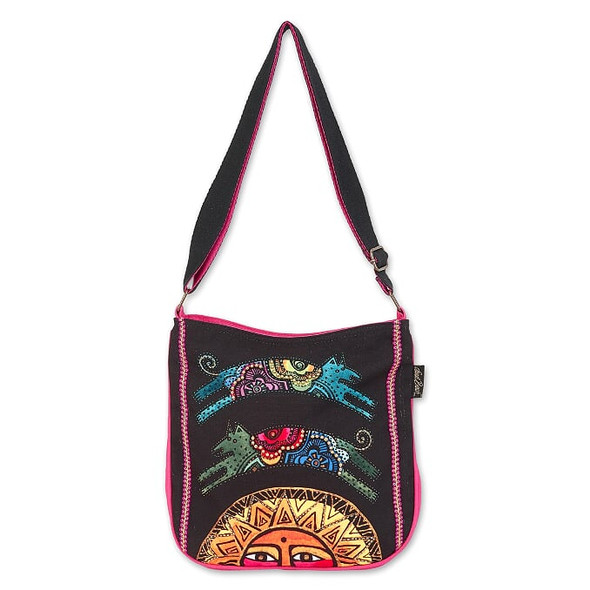 Laurel Burch Over the Sun Dogs 12x11 N/S Crossbody Tote – LB7031