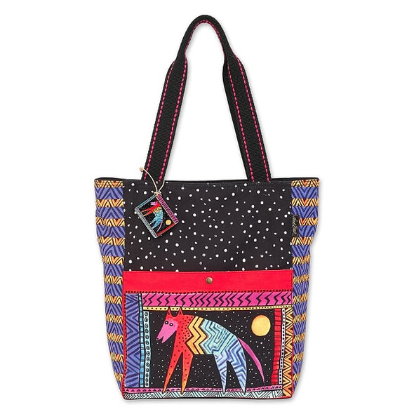 Laurel Burch Celestial Dog 16x15 Shoulder Tote – LB7040
