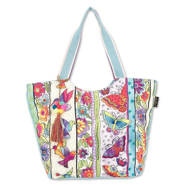 Laurel Burch Butterfly Floral 21x13 Shoulder Tote – LB7050