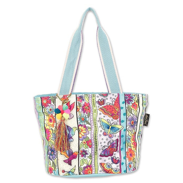 Laurel Burch Butterfly Floral 15x10 Medium Tote – LB7051