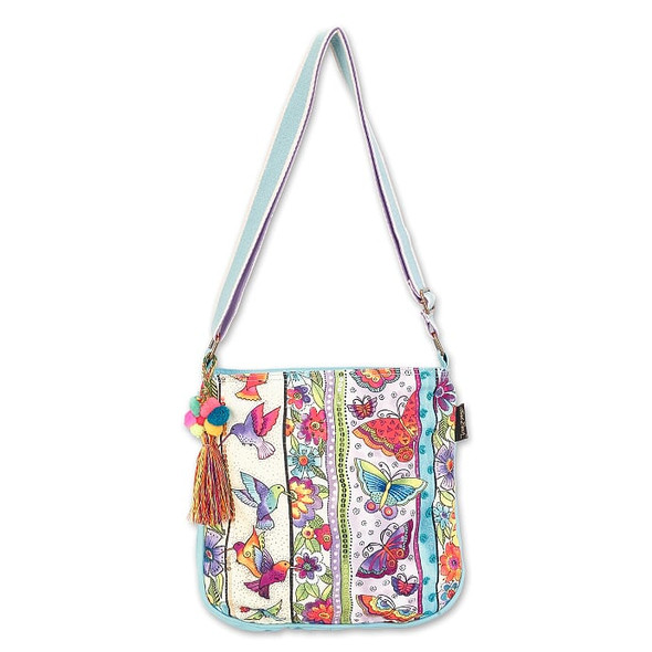 Laurel Burch Butterfly Floral 12x11 N/S Crossbody Tote – LB7052