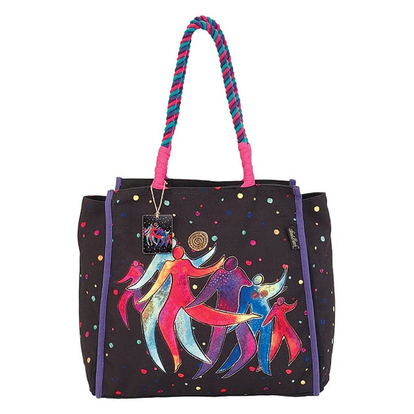 Laurel Burch Rainbow Dancing Spirits 21x14 Shoulder Tote – LB7070