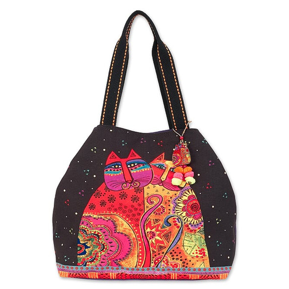 Laurel Burch Festive Felines 20x14 Gap Shoulder Tote – LB7090