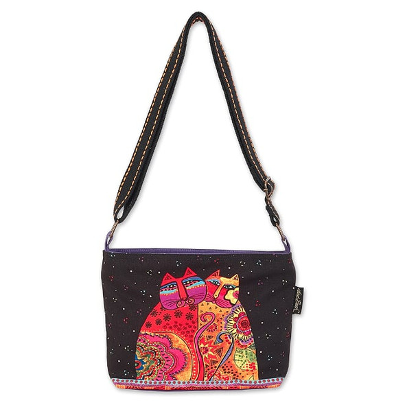 Laurel Burch Festive Felines 12x8 Crossbody Tote – LB7092