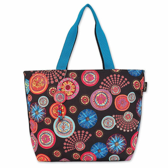 Laurel Burch Circle Florals 21x15 Shoulder Tote – LB8000