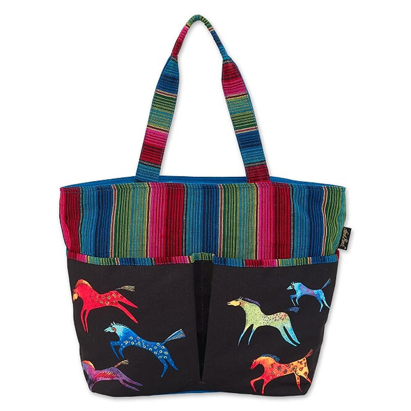 Laurel Burch Dancing Horses 21x15 Shoulder Tote – LB8010