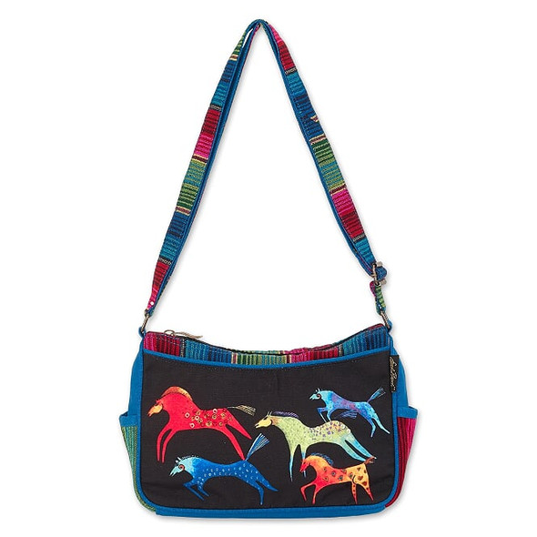 Laurel Burch Dancing Horses 11x7 E/W Crossbody Tote – LB8011