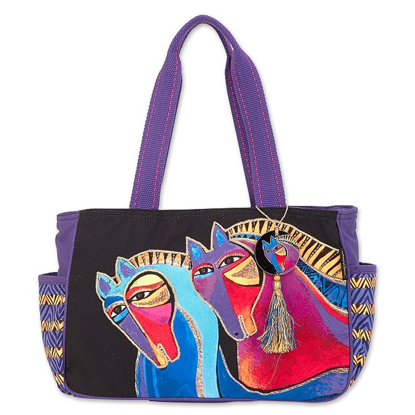 Laurel Burch Peruvian Mares 17x9 Medium Tote – LB8021