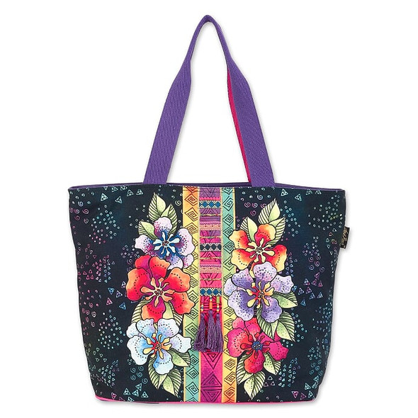 Laurel Burch Floral Stamps 20x14 Shoulder Tote – LB8040