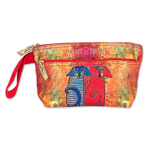 Laurel Burch Two Doggie Wristlet with Two Zippers – LB8051D
