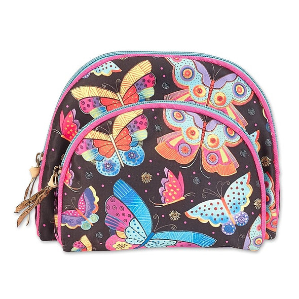 Laurel Burch Set Two Butterfly Cosmetic and Coin Purses – LB8052C