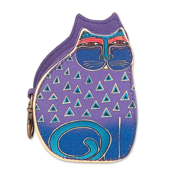 Laurel Burch Cutout Indigo Cat Coin Purse – Purple – LB8053A