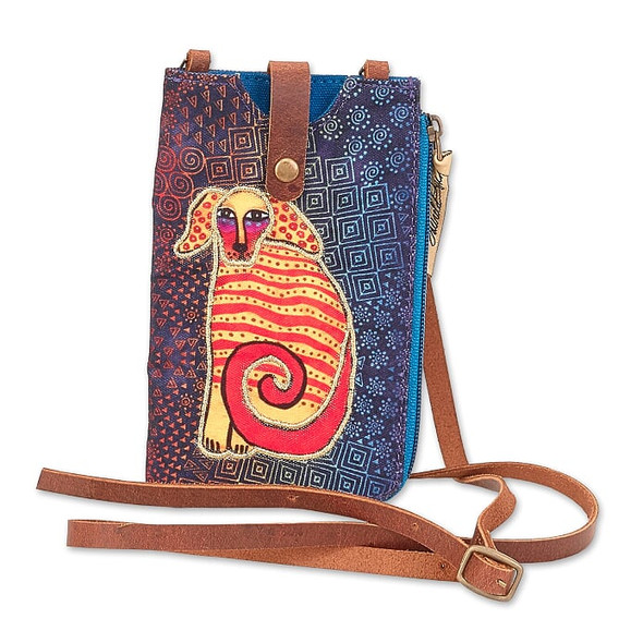 Laurel Burch 5x7 Delightful Doggie Phone with Zip Pocket Crossbody Bag – LB8055B