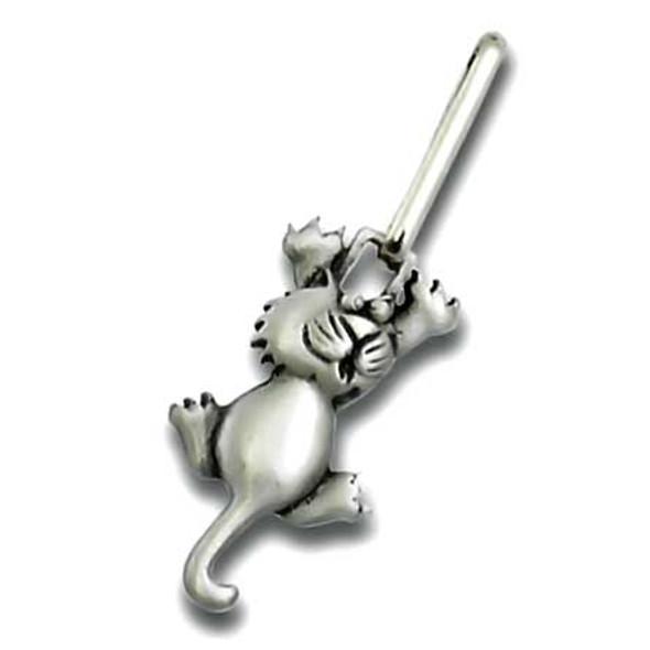 """Cat """"Clinging Cat"""" Zipper Pull 2415ZP"""
