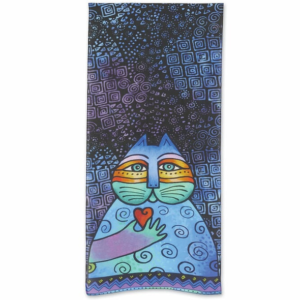 Laurel Burch Feline Wishing Love Scarf – Modal and Silk – LBS218