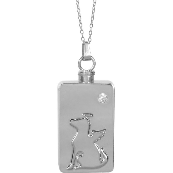 Dog Angel Keepsake Pendant Urn Memorial Necklace 46508