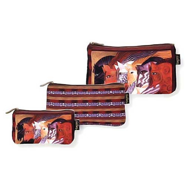 Laurel Burch Moroccan Mares 3 BAG SET Cosmetic Bags LB5333