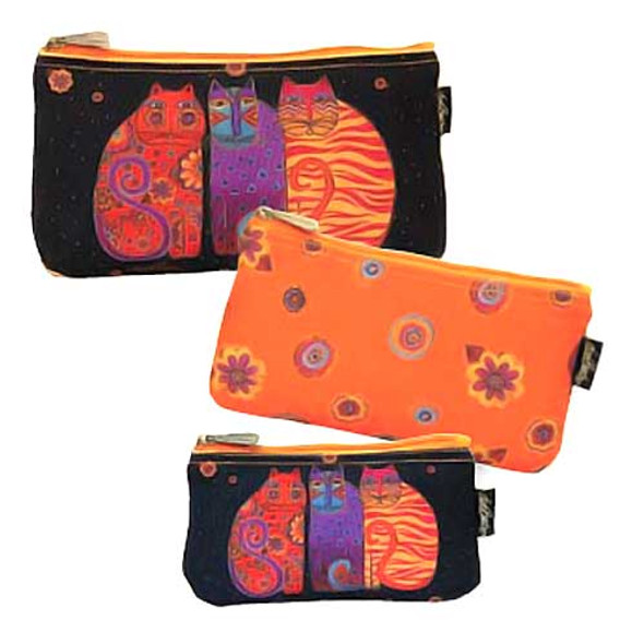 Laurel Burch Feline Friends 3 BAG SET Cosmetic Bags LB5334