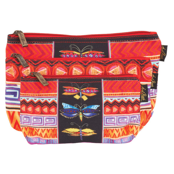 Laurel Burch Colorful Dragonfly Cosmetic Bag Set