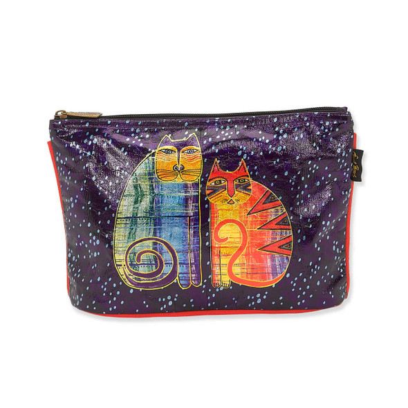 Laurel Burch Batik Felines Foiled Canvas Cosmetic Bag – LB8062