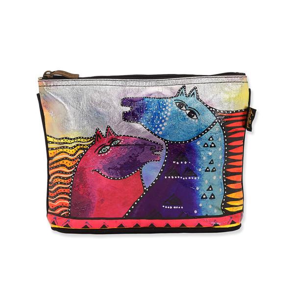 Laurel Burch Rainbow Mares Foiled Canvas Cosmetic Bag – LB8072