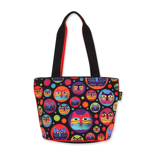 Laurel Burch Feline Faces Canvas Medium Tote LB8113