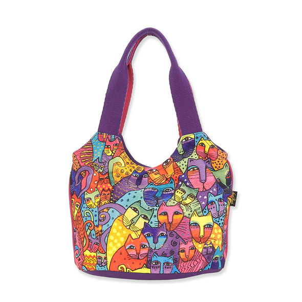 Laurel Burch Feline Tribe Canvas Small Scoop Tote LB8122