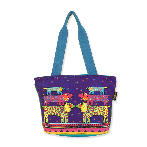 Laurel Burch Dogs Canine Family Canvas Medium Tote – LB8161