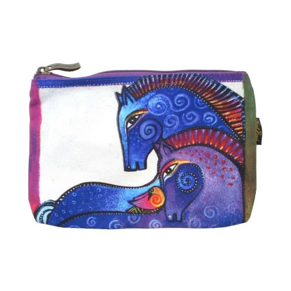 Laurel Burch Cotton Cosmetic Bag Aquatic Mares - LB4890B-20