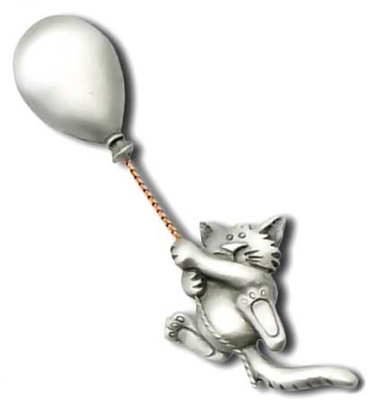 Cat Hanging from a Balloon Pin 3694CP