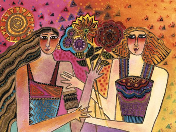 Laurel Burch Card Birthday Picked You as Friend - BDG13238