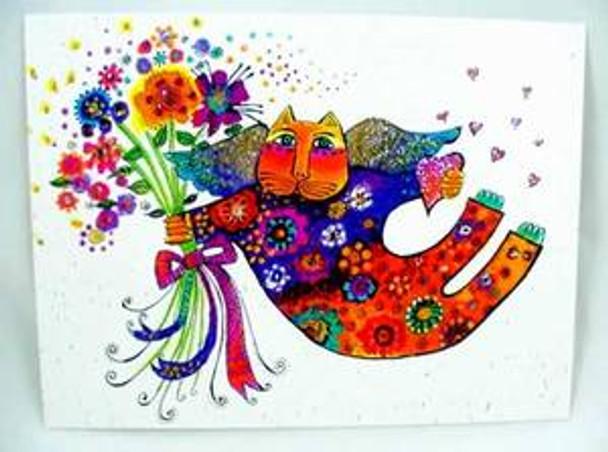 "Laurel Burch Card Support Friendship ""Valentina"" Cat"