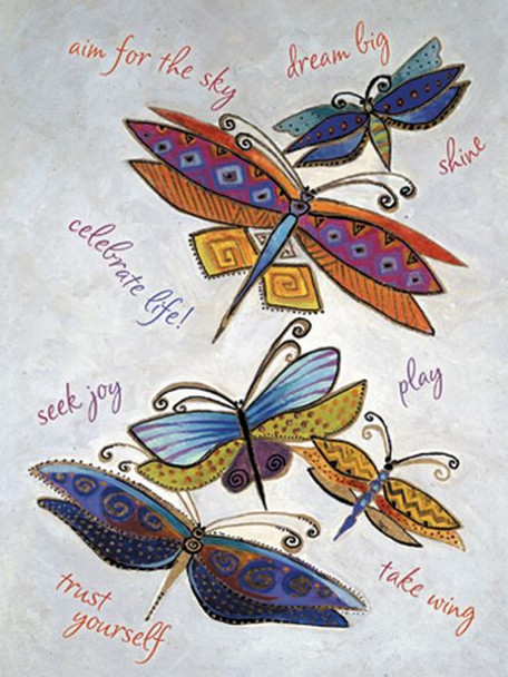 "Laurel Burch Card Inspirational ""Dragonflies"" - ISG13256"