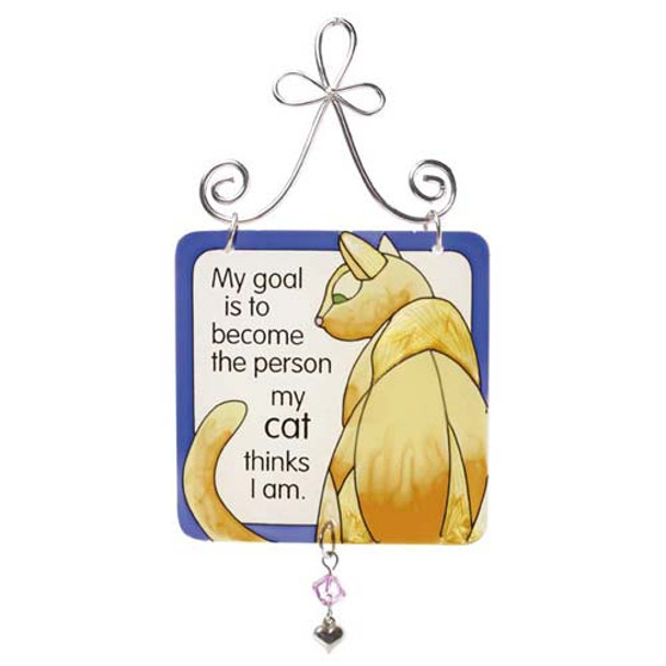Cat Mini Sun Catcher Sign - JSW006