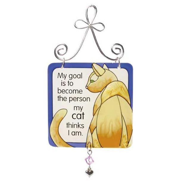 Cat Mini Sun Catcher Sign - JSW006